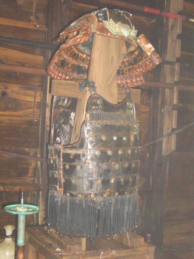 三段壁にある熊野水軍甲冑