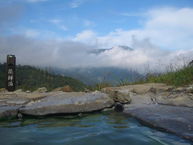 薬師湯と朝日岳